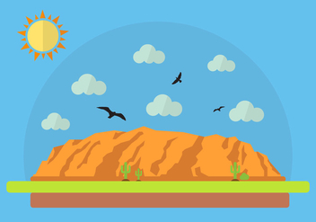 Vector Illustration of Grand Canyon - Free vector #329387