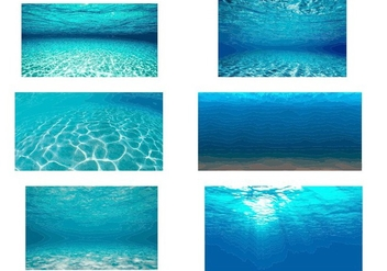 Underwater background vector - vector #329477 gratis