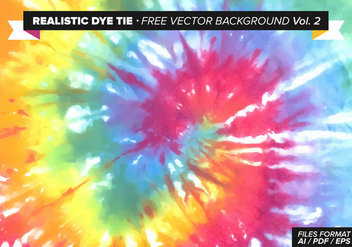 Realistic Dye Tie Free Vector Background Vol. 2 - Free vector #329537