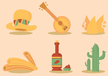 Mexican Food Vector Set - Free vector #329557