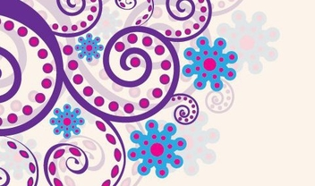 Spiral Colorful Swirling Floral Decoration - Free vector #329607
