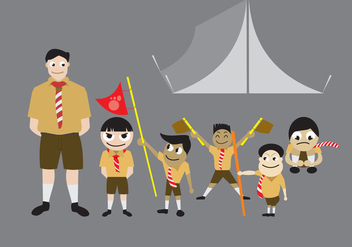 Boy Scout Vectors - бесплатный vector #329687