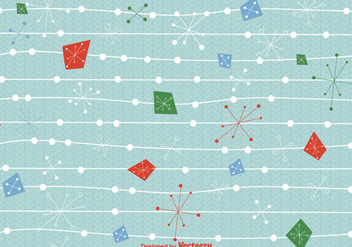 Mid century christmas background vector - Free vector #329707