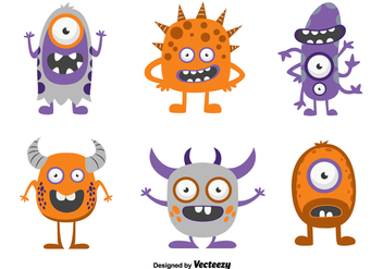 Funny cartoon monsters - Free vector #329727