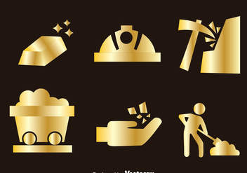 Gold Mine Icons - Free vector #329767