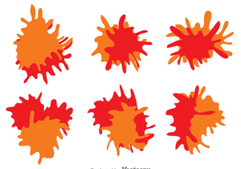 Paint Splash Set - Free vector #329807
