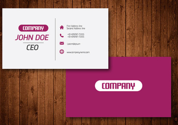 Creative Business Card - Kostenloses vector #329817