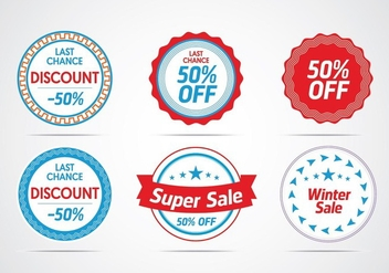 Creative Badge Vectors - Free vector #329827