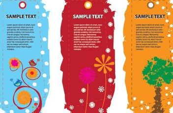 Funky Colorful Sale Tags - vector gratuit #329837