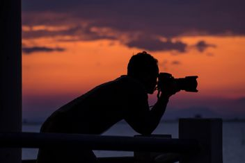 Silhouette of photographer - Kostenloses image #329977