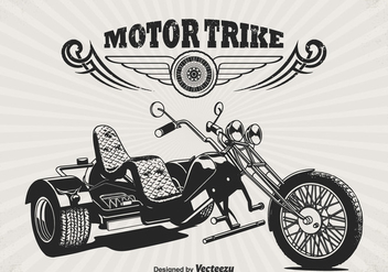 Free Retro Motor Trike Vector Poster - Free vector #330037