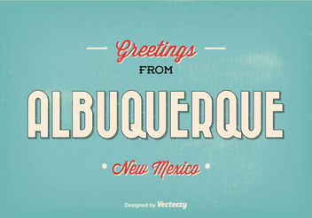 Retro Style Albuquerque Greeting Illustration - vector gratuit #330077
