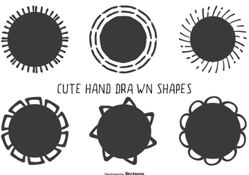 Cute Hand Drawn Style Assorted Shape Set - Free vector #330087