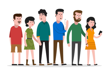 People In A Row - vector #330097 gratis