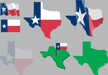 Texas Map and Flag Vector - vector gratuit #330117