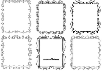 Decorative Frame Set - vector #330137 gratis