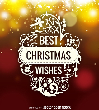 Best Christmas Wishes logo label - vector gratuit #330197