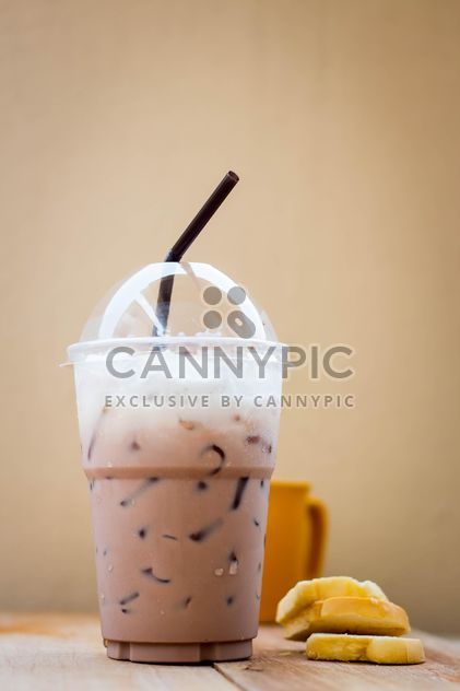 Iced coffee in plastic glass - Free image #330427