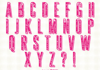 Retro Grunge Style Alphabet Set - Free vector #330487