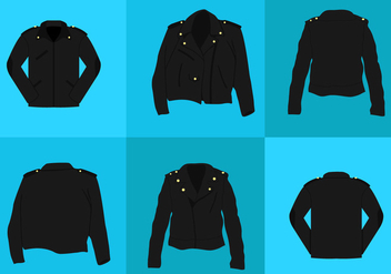 Leather Jacket Vectors - vector gratuit #330527