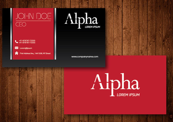 Creative Business Card - vector #330557 gratis