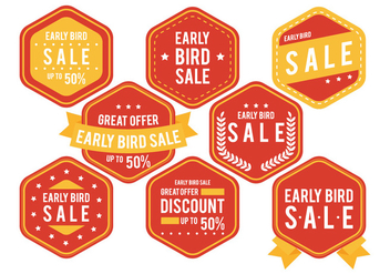 Early Bird Badge - Free vector #330567