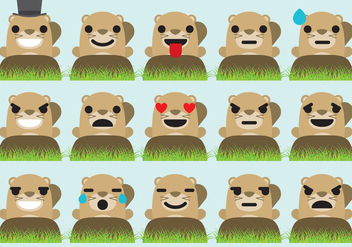 Groundhog Emoticons - vector #330577 gratis