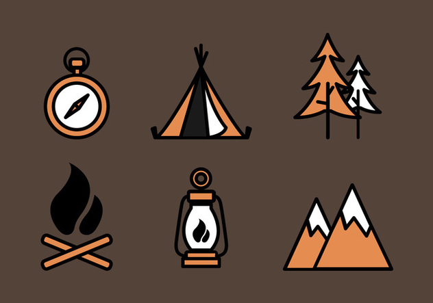 Vector Boy Scouts Icon Set - vector gratuit #330597
