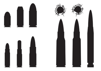 Free Bullets And Bullets Hole Vector - Free vector #330607