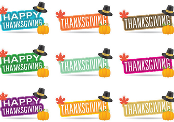 Thanksgiving Titles - vector #330737 gratis