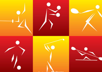 Sport Icons Set - Free vector #330777