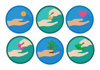 Donate Icon Vector - Kostenloses vector #330787