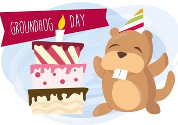 Groundhog Day Vector - vector #331107 gratis