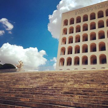 Square coliseum in Eur, Rome - бесплатный image #331127