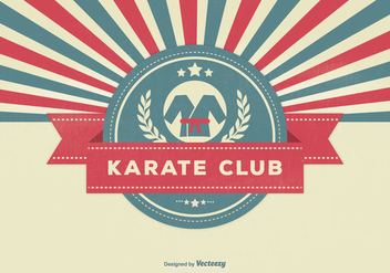 Retro Style Karate Club Illustration - Free vector #331227