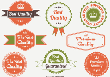Promotional Quality Badge and Label Set - Free vector #331407