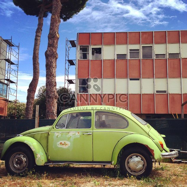 Green Volkswagen Beetle car - Free image #331517