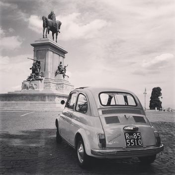 Fiat 500 Old Car Street Rome - Free image #331577