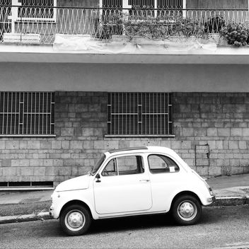 White Fiat 500 car - Free image #331927