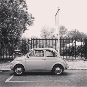 Old small Fiat 500 car - Free image #332017