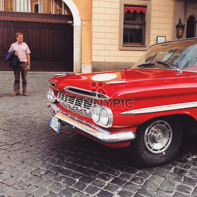 Old red car - Free image #332167