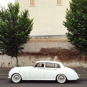 Retro white car - Free image #332357