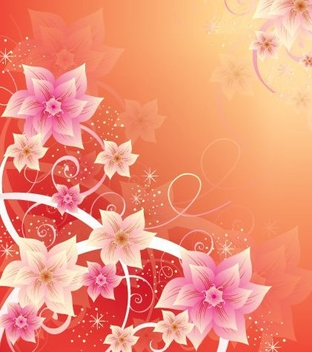 Pink Floral Summer Background - vector gratuit #332497
