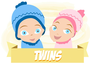 Baby Twins Free Vector - Free vector #332547