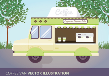 Coffee Van Vector Illustration - vector gratuit #332587