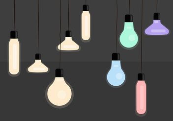 Hanging light vectors - Free vector #332617