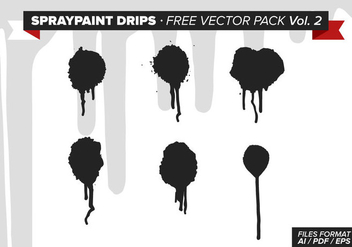 Spraypaint Drips Free Vector Pack Vol. 2 - vector #332647 gratis