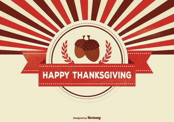 Retro Thanksgiving Background Illustration - Kostenloses vector #332677