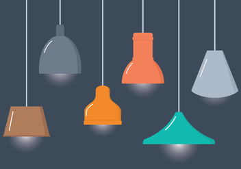 Interior Hanging Lamps - vector gratuit #332707