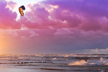 Beauty of nature, storm at sea, the purple sky - бесплатный image #332827